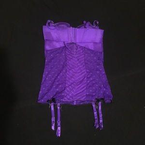 Victoria Secret lingerie Garter Bodysuit Bustier